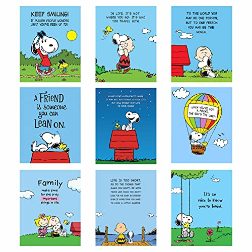 Snoopy Poster Prints - Set of 9 Wall Decor - (UNFRAMED 8