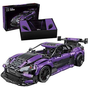 KEAYO Technik Sports Car Model for Aston Martin Vantage GT3, Technology Car Large Clamp Building Blocks MOC Kit Compatible with Lego Technic