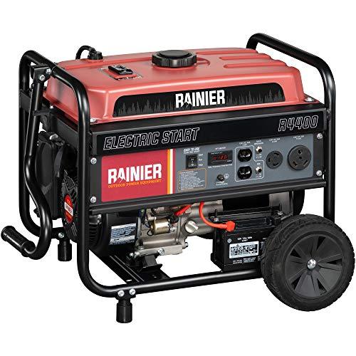Rainier R4400 Portable Generator with Electric Start - 4400 Peak...