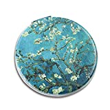 Lizimandu Metal Compact Mirror- 3X Magnifying MakeUp Mirror - Perfect for Purses - Travel - 2-sided with 3X Magnifying Mirror and 1X Mirror(Peach Blossom)