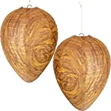 Mood Lab Wasp Nest Decoy - 2 Pack - Hanging Fake Wasp Nest