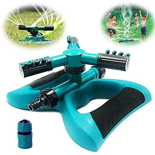 Buyplus-Lawn-Sprinkler-Automatic-360-Rotating-Adjustable-Garden-Hose-Watering-Sprinkler-Head-for-Kids-with-3600-SQ-FT-Coverage-Lawn-Irrigation-SystemLeak-Free-Durable-3-Arm-Sprayers