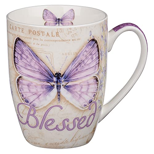 Blessed Butterfly Mug – Botanic Purple Butterfly Coffee...
