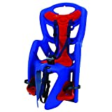 Bellelli Pepe Bike Rack Mounted Baby Carrier, Red/Blue