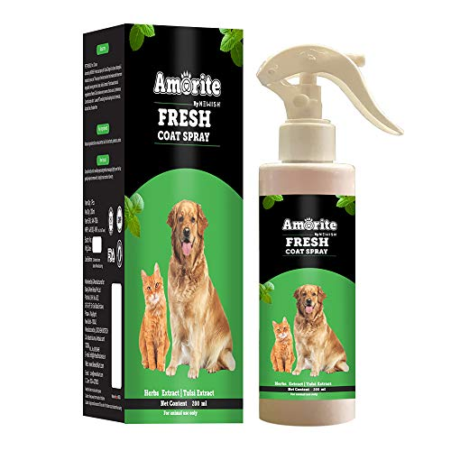 AMORITE® Dog Perfume Fresh Coat Spray & Controls Odor for Dogs & Cat and Keep Smelling Fresh 200ml