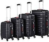 4 ruedas 360 grados Equipaje Manija telescópica ABS Bloqueo de plástico Contraseña Combinación Candado Candado Caja de equipaje,Black