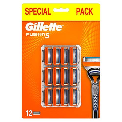 Gillette Fusion5 Lamette di Ricambio per Rasoio da Uomo, Rasatura Scorrevole, 12Testine