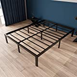 ZIYOO 14 inch California King Bed Frame No Box Spring Needed, Heavy Duty Steel Slat Platform Bed Base Frame, Strengthen Support Mattress Foundation, Quiet Noise Free