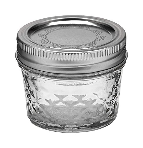 4-Ounce Quilted Crystal Mason Jars with Lids and Bands