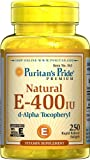 Puritans Pride Vitamin E-400 Iu 100% Natural, 250 Count