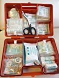 Erste Hilfe Koffer zur Wandmontage inkl. Befestigungsmaterial und Beatmungshilfe (DIN 13157, 'Quick' 26x17x11 cm)
