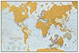 Carte du monde Scratch the World - édition de voyage - cadeau de voyage -...