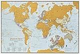 Carte du monde Scratch the World - édition de voyage - cadeau de voyage - format A3 42cm (largeur)...