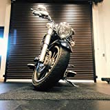 Motorcycle Mat by New Pig | Made in The USA | Plush 3' x 10' Garage Carpet | Protect Garage Floor from Oil and Rust Stains
