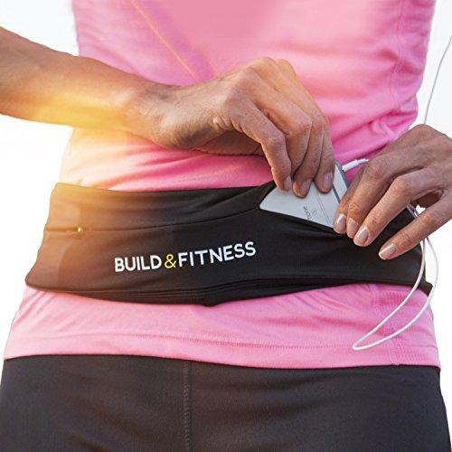 Build & Fitness Ceinture de Course pour Homme, Femme. iPhone 8 Plus,X....