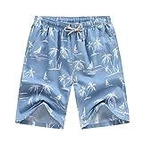 Xmiral Costume da Bagno Uomo Pantaloncino Costumi da Bagno Uomo Nuoto Surf Costume Boxer Mutanda Corto Short da Mare Piscina (M,4Blu)