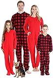 Sleepyheads Family Matching Fleece Solid Red Onesie Pajamas - Men's (SHM-4033-M-LRG)