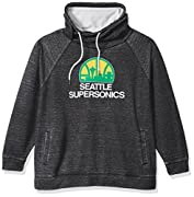 Officially licensed NBA hardwood classic Apparel 75% polyester/25% cotton micro fleece in plus sizes Double layer funnel neck with Drawstring ties, Raglan sleeves, relaxed silhouette, and front kangaroo pouch Burned-out, over-dyed fleece Pullover Cha...