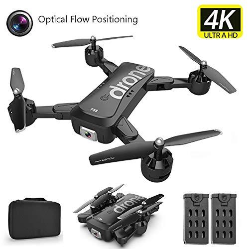 APJS Fotocamera 4K 2.4G Wi-Fi Drone Quadcopter Pieghevole Altitude Hold Quadricottero con Una Batteria Supplementare modalit Senza Testa, Controllo App e FPV Distanza Trasmissione 80m,A