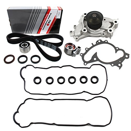 TIMING BELT WATER PUMP VALVE COVER GASKET KIT COMPATIBLE WITH TOYOTA CAMRY AVALON SIENNA SOLARA/LEXUS ES300 3.0L (2995cc), V6 DOHC 24V 1MZFE