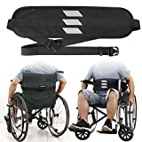 Wheelchair Seat Belt Medical Restraints Straps with Reflective Tape Patients Cares Safety Harness Chair Waist Lap Strap for Elderly (Black)