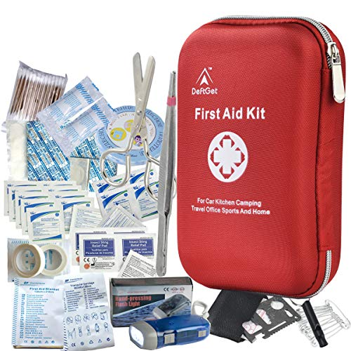DeftGet First Aid Kit - 163 Piece Waterproof Portable Essential...