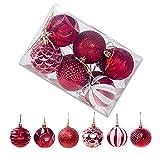 Starvido Bolas de Navidad Brillante Brillante Mate Ornamentación de diámetro 6 cm árbol de...