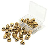 Sywon 40 Pack Brass Misting Nozzles Replacement Heads for Garden Patio Lawn Landscaping Dust Control and Outdoor Cooling Mister System, 0.012' Orifice 10/24 UNC