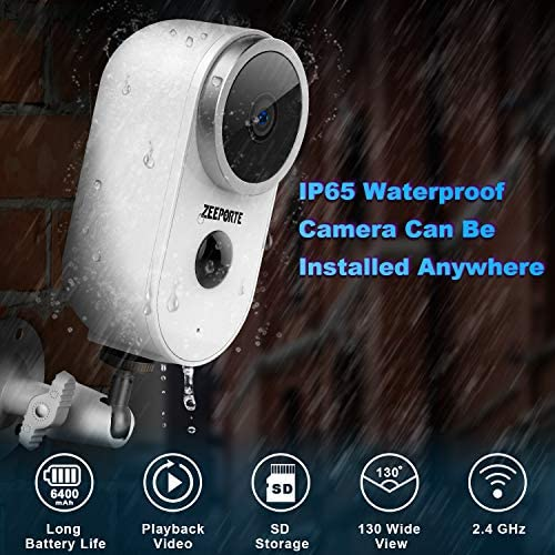 Security Camera Outdoor, 1080P HD Wireless Rechargeable Battery Powered WiFi Home Surveillance Camera with Waterproof, Night Vision, Motion Detection, 2-Way Audio and SD Storage 11