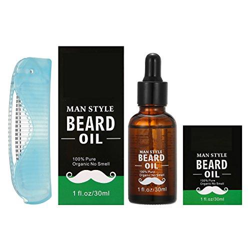 Olio per Barba, Luckyfine Ammorbidente Barba per Uomini Cura per Barba Migliorare la Salute e la Crescita della Barba 30 ml
