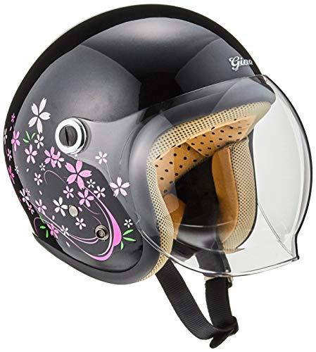 TNK工業 スピードピット ジェット型ヘルメット GS-6 サクラブラック サイズ:LADY'S FREE(57-58cm未満) 51198.0