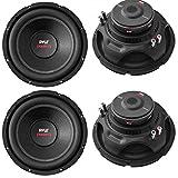 4) Pyle PLPW10D 10' 4000W Car Subwoofer Audio Power Subs Woofers DVC 4 Ohm Black