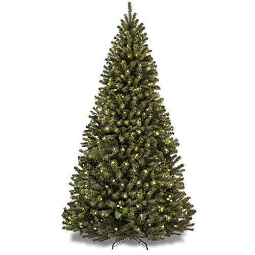 Best Choice Products 9ft Pre-Lit Spruce Hinged Artificial Christmas Tree w/ 900 Incandescent Lights, Stand