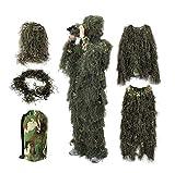 YuanDiann Camouflage 3D Ghillie Suit Tenue De Chasse Affût Militaire Woodland...