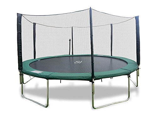 Happy Trampoline - Galactic Xtreme Gymnastic Outdoor Trampoline with Net Enclosure - High Performance Commercial Grade, Heavy Weight Jumping Capacity (16 Ft, Round) 16 FT Round