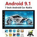 Binize Android 9.1 7 Inch HD Quad-Core 2 Din Car Stereo Radio Multimedia Player NO-DVD GPS Navigation in Dash AutoRadio Bluetooth/USB/WiFi (2G RAM+32G ROM)