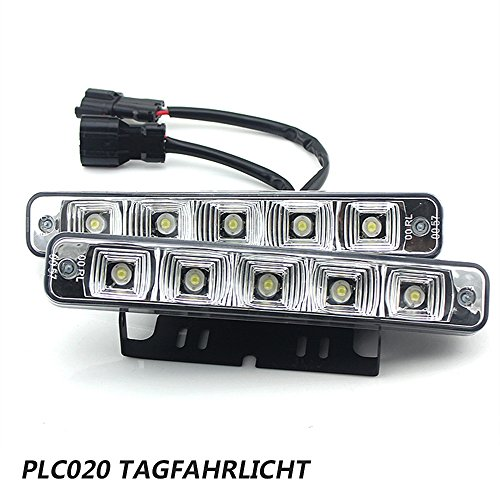 PLC020, Luci di circolazione diurne, super luminose, a LED, E410 W 12 V, luci di marcia diurna