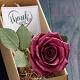 Camellia Bees Paper Rose in Gift Box 1st Year Wedding Gift Handmade...