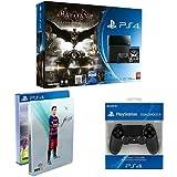 Contenu : Console PlayStation 4 - jet black 500 Go + Batman Arkham Knight + Comics Fifa 16 Steelbook Fifa 16 exclusif Amazon Manette PS4 Dual Shock 4