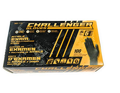 Nitrile Mechanic and multi-purpose gloves 6 MIL by Challenger Gloves XL