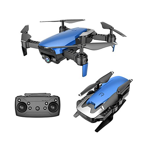 Goolsky Dongmingtuo X12 0.3MP Fotocamera WiFi FPV Drone Altitude Hold One Key return RC Quadcopter (Blu)