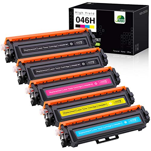 JARBO Compatible Toner Cartridge Replacement for Canon 046 046H CRG-046H CRG-046, Use with Canon Color ImageCLASS MF733Cdw MF731Cdw MF735Cdw LBP654Cdw Printer (5 Packs)
