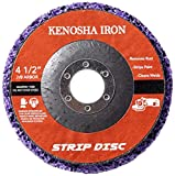 5 Pack- 4 1/2'(115mm) x 7/8' KENOSHA IRON Extended Life Easy Strip and Clean Disc for Angle Grinders