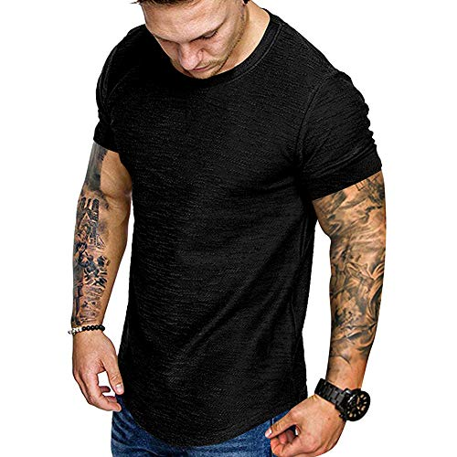 Fashion Mens T Shirt Muscle Gym Workout Athletic Shirt Cotton Tee...