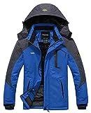 Wantdo Men's Winter Mountain Waterproof Ski Coats Windproof Jacket Sky Blue 3XL
