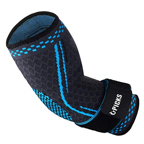Ellenbogenbandage, Kompressions-Armstütze, elastisch, mit Riemen für Golfer, Basketball, Tennis, Training, Gewichtheben, Sehnenscheidenentzündung, Arthritis, Bursitis, Schmerzlinderung
