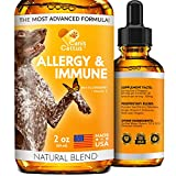 Allergy Immune Supplement for Dogs & Cats - Dog Itch Relief - Dog Skin and Coat Supplement - Allergy Relief for Dogs - Cat Allergy & Dog Allergy - Dog Skin Soother and Breeds (2 Oz)