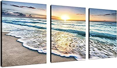 Size:12x16inchx3 Framed Material: Waterproof Ready to Hang:Gallery wrapped and stretched with wooden frame on the back.Ready to hang. High Definition:High definition giclee modern canvas printing artwork,picture photo printed on high quality canvas. ...