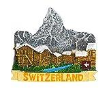 zamonji Alpes Cervin, Zermatt Suisse 3D Résine Aimant de Réfrigérateur...