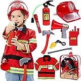Tacobear Pompier Deguisement Enfant Pompier Costume avec Pompier Jouet...